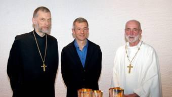 Die Pfarrer der ökumenischen Kirche in Flüh. (Archiv)