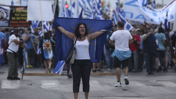 Nicht alle Griechen lassen sich von Regierungscher Tsipras beruhigen: Proteste in Thessaloniki.
