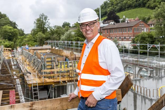 Anthony Strub, Gesamtprojektleiter der Baufelder im Bäderquartier.