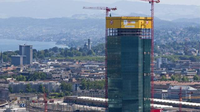 Der Prime Tower ist heute gebaut, Swiss Prime Site wächst weiter