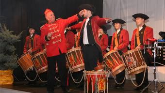 Das Tambourencorps Laufenburg präsentierte am Drum-Dinner seine neue Uniform.
