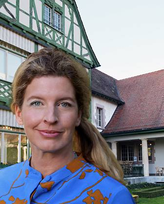 Künstlerin Sandra Senn liess sich für ihre Textinstallationen monatelang von der Villa Langmatt inspirieren (Bild zVg)
