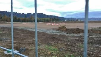 Der neue Naturrasenplatz im Gebiet Tägerhard nimmt Form an – er wird das Platzproblem der Sportvereine deutlich entschärfen.