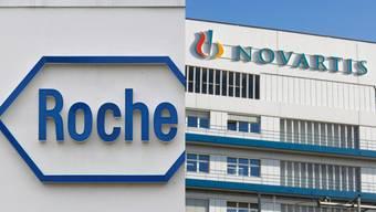 Roche und Novartis, die beiden grossen Pharma-Konzerne.