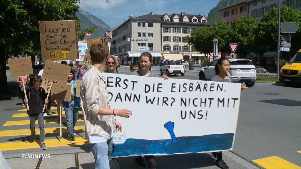 Kleinste Klimademo findet in Glarus statt