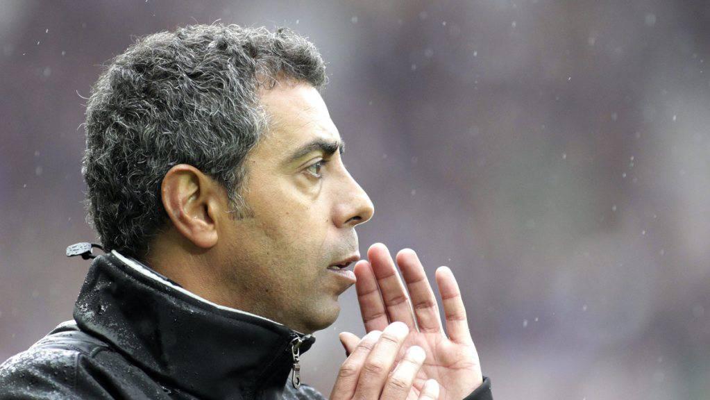 Der Portugiese João Carlos Pereira im April 2012 als Coach von Servette