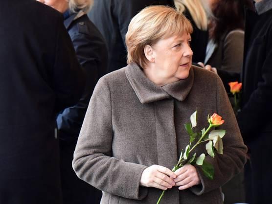 Kanzlerin Angela Merkel am Samstag an der zentralen Gedenkfeier in Berlin zum Fall der Mauer vor 30 Jahren.