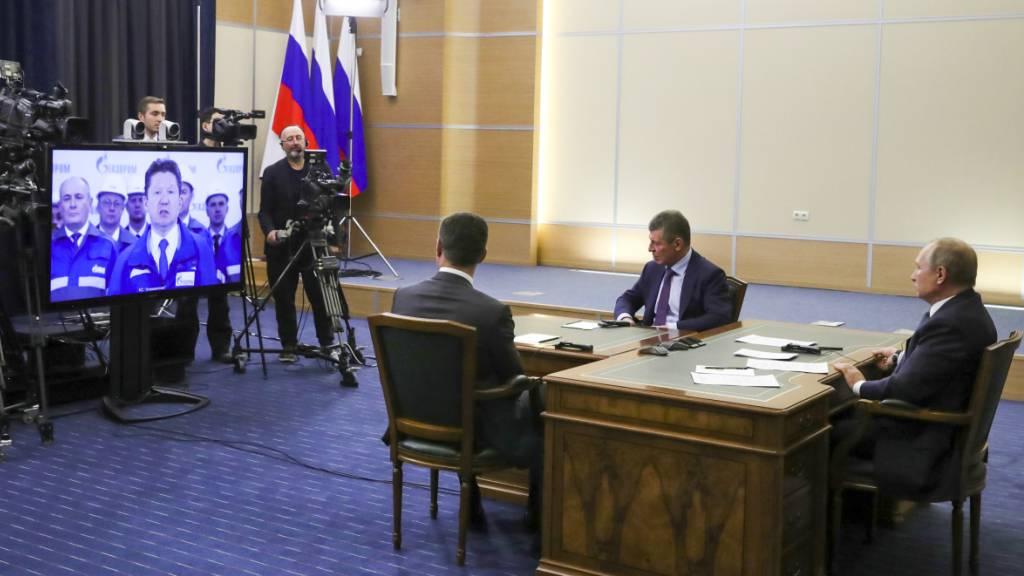 Putin und Xi feiern ersten Teil der Pipeline «Kraft Sibiriens»