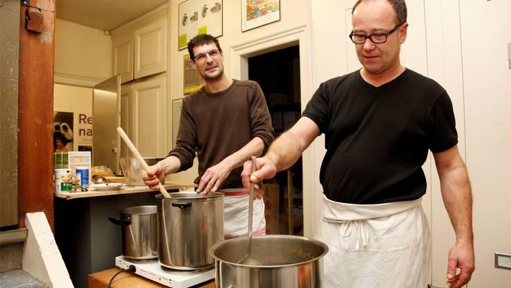 Die Koch-Künstler Marco Eberle (l.) und Ewald Trachsel. Hanspeter Bärtschi