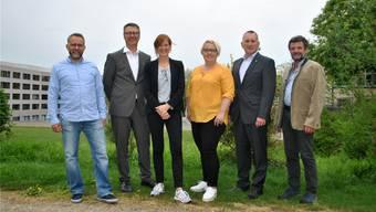 Die Verantwortlichen der Expo 2019 auf dem Rheinparking.