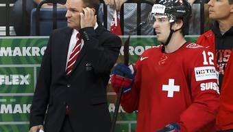 Es sieht nicht gut aus: Trainer Sean Simpson und Spieler Luca Cunti