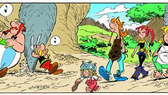 Aufregung ist im Anmarsch: Rote Zöpfe sorgen bald für Aufregung im Gallierdorf und einen Adrenalin-Schub bei Obelix. (ZVG)