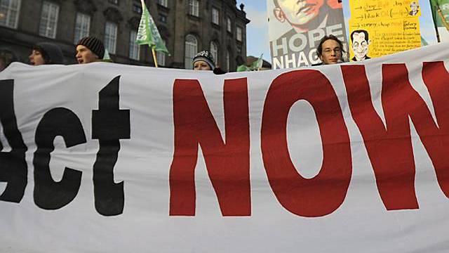 Demonstration in Kopenhagen während Klimagipfel