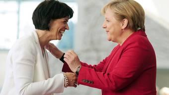 Doris Leuthard zu Besuch bei Angela Merkel in Berlin