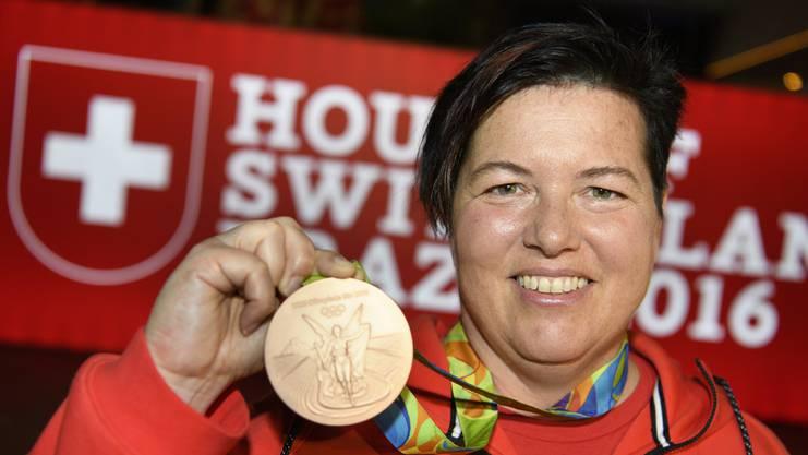 Sportschützin Heidi Diethelm-Gerber fühlt sich nicht benachteiligt: «Streiken werde ich heute auf keinen Fall.»