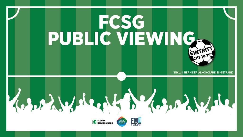 Das grosse FCSG Public Viewing