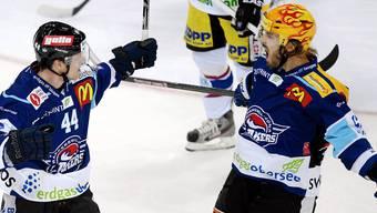 Rekord: Rapperswil-Jona beschäftigt gleich vier Schweden, darunter Nicklas Danielsson (links) und Niklas Persson.Keystone