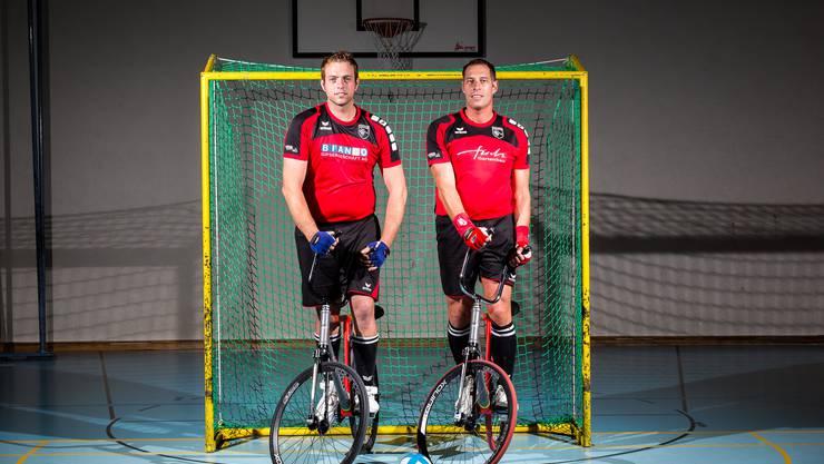 Bereits seit 13 Jahren spielen Stefan Lützelschwab (rechts) und Renato Bianco Radball – und das auf höchstem Niveau.