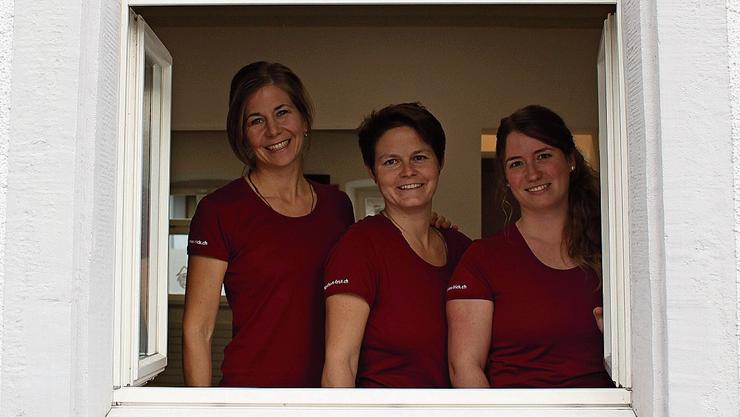 Mirjam Bölsterli, Carmen Brugger und Kathrin Bürgi-Schmid (v.l.) haben ihre Passion zum Beruf gemacht.