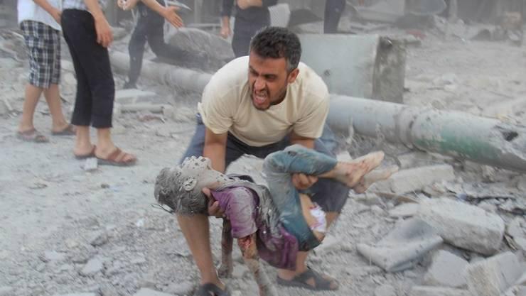 9. Juli: Aleppo nach einem Luftangriff der Assad-Truppen.