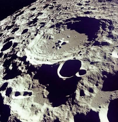 Krater 308, fotografiert am 20. Juli 1969.  (Bild:EPA/NASA/HO)