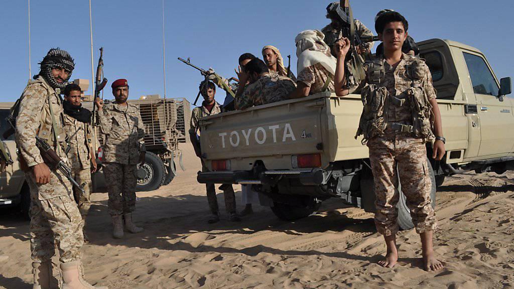 Mehrere Kampfverbände halten zu Präsident Hadi. Diese verzeichneten zuletzt gehäuft militärische Erfolge (Symbolbild).