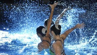 Die Synchronschwimmerinnen des Schwimmclubs Solothurn an der Synchroshow.