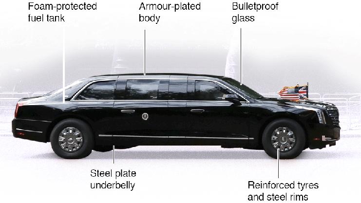 Die Stagecoach No 1, oder auch «The Beast» genannt, ist die Limousine des US-Präsidenten.