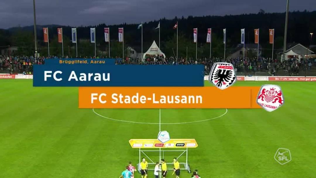 Challenge League,  Saison 2019/20, 8. Runde: FC Aarau - FC Stade Lausanne-Ouchy