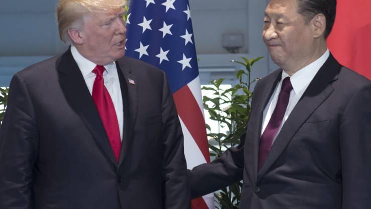 Händel um Handel: US-Präsident Donald Trump und der chinesische Staatschef Xi Jinping. (Archivbild)