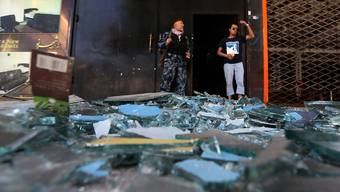 Sicherheitskräfte am Ort des Angriffs in Kabul.