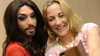 Conchita Wurst an der Gay Pride in Zürich