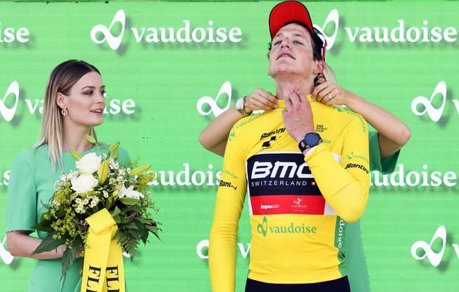 Stefan Küng konnte in der zweiten Etappe der Tour de Suisse das Maillot jaune verteidigen.