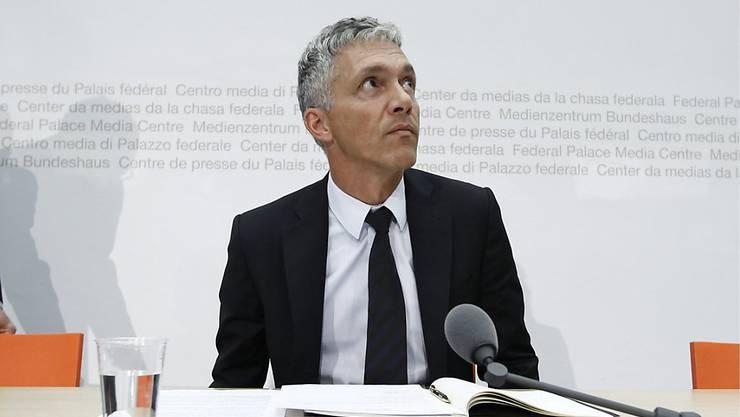 Bundesanwalt Michael Lauber soll sich nicht wie bekannt zwei-, sondern dreimal mit Fifa-Präsident Gianni Infantino getroffen haben. (Archiv)