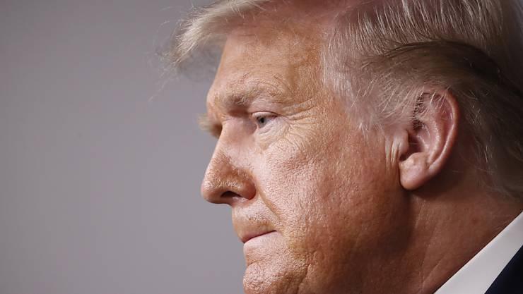 US-Präsident Donald Trump während einer Pressekonferenz im Weißen Haus. Foto: Alex Brandon/AP/dpa