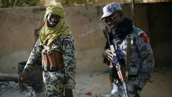 Soldaten der malischen Armee in der Stadt Gao im Norden des Landes