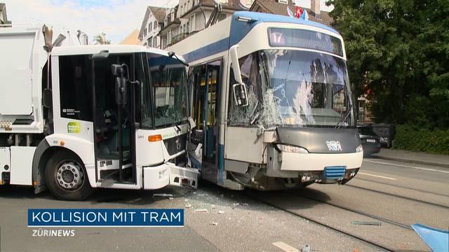ERZ-Abfallwagen kollidiert mit Tram