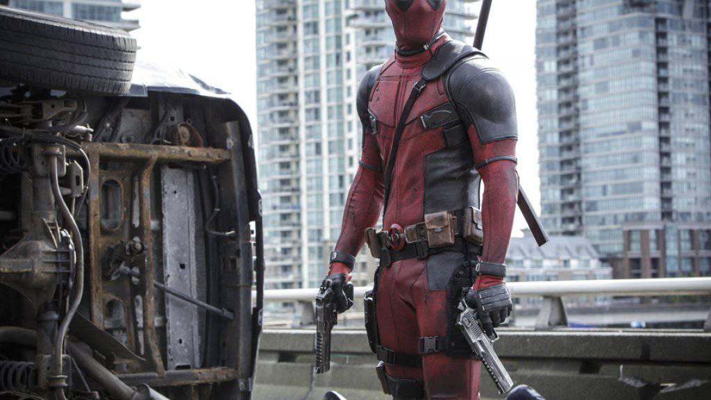 """Ryan Reyonlds spielt die Hauptrolle in Tim Millers Actionfilm """"Deadpool"""" (Archiv)"""