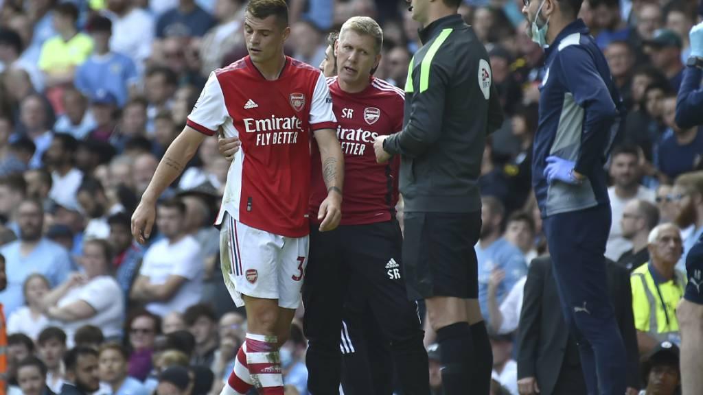 Arsenals Granit Xhaka verletzte sich im Derby gegen Tottenham Hotspur (Archivbild)