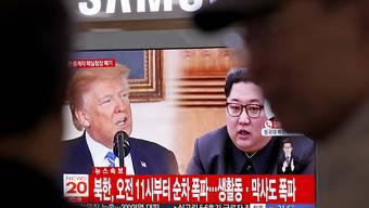 Nordkoreas Machthaber Kim Jong Un und US-Präsident Donald Trump haben einander in der Vergangenheit oft gedroht. (Symbolbild)