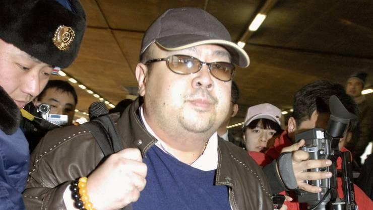 Kim Jong Nam im Jahr 2007 auf dem Flughafen von Peking.