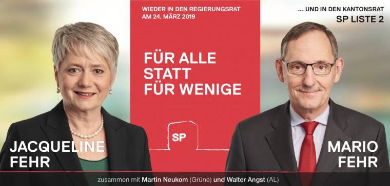 Slogans Plakate Regierungsratswahlen (© SP Kanton Zürich)