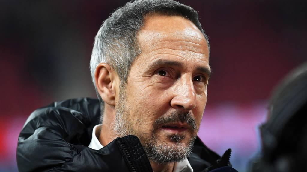 Für Adi Hütter und Eintracht Frankfurt läuft es derzeit in der Bundesliga nicht nach Wunsch