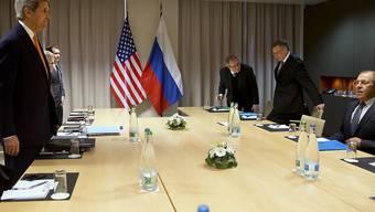 US-Aussenminister Kerry (l) und sein russischer Amtskollege Lawrow (r) wollen sich in Lausanne erneut zu Gesprächen über den Syrien-Krieg treffen (Archivbild).