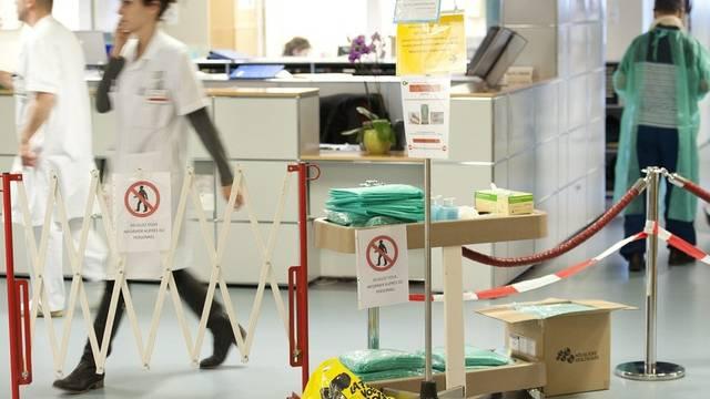 Die abgesperrte Abteilung des Unispitals Lausanne