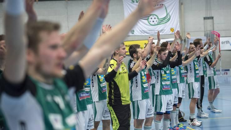 Wilers Spieler jubeln nach dem Einzug in den Superfinal.