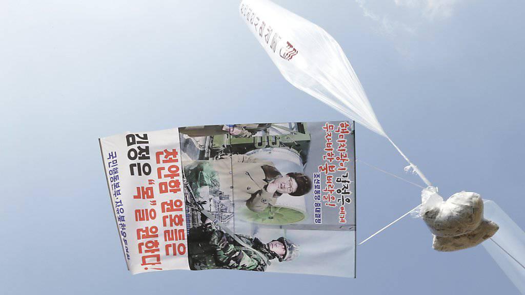 Südkoreanische Aktivisten werfen Flugblätter über Nordkorea ab