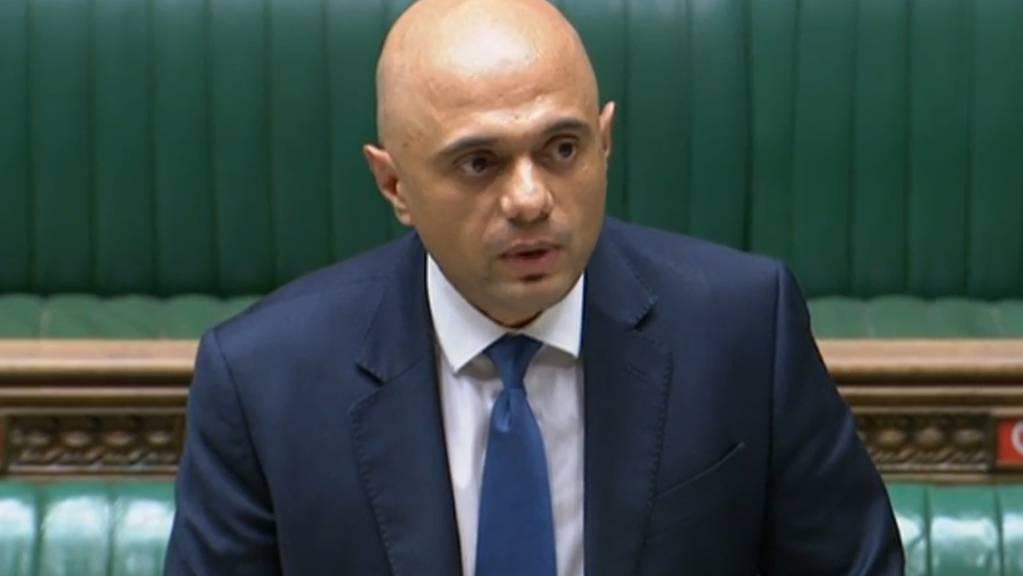 Grossbritanniens Gesundheitsminister Sajid Javid spricht zu den Abgeordneten im Unterhaus. Foto: House of Commons/PA Wire/dpa