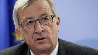 Luxemburgs Regierungschef Jean-Claude Juncker während einer Medienkonferenz Mitte März (Archiv)