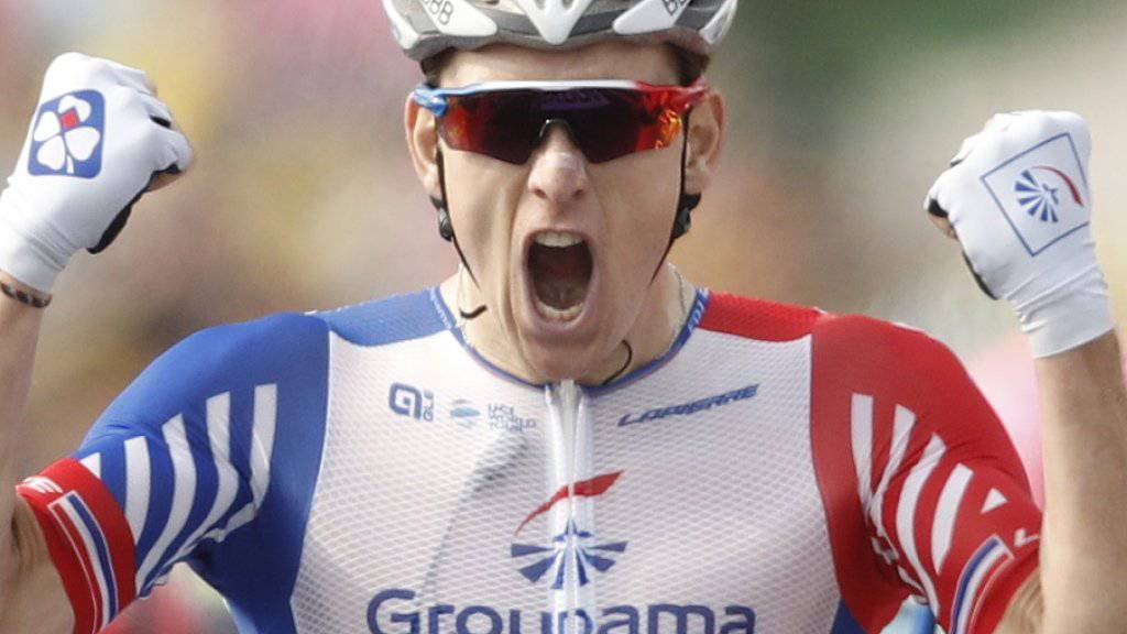 Arnaud Demare feiert seinen ersten Saisonsieg